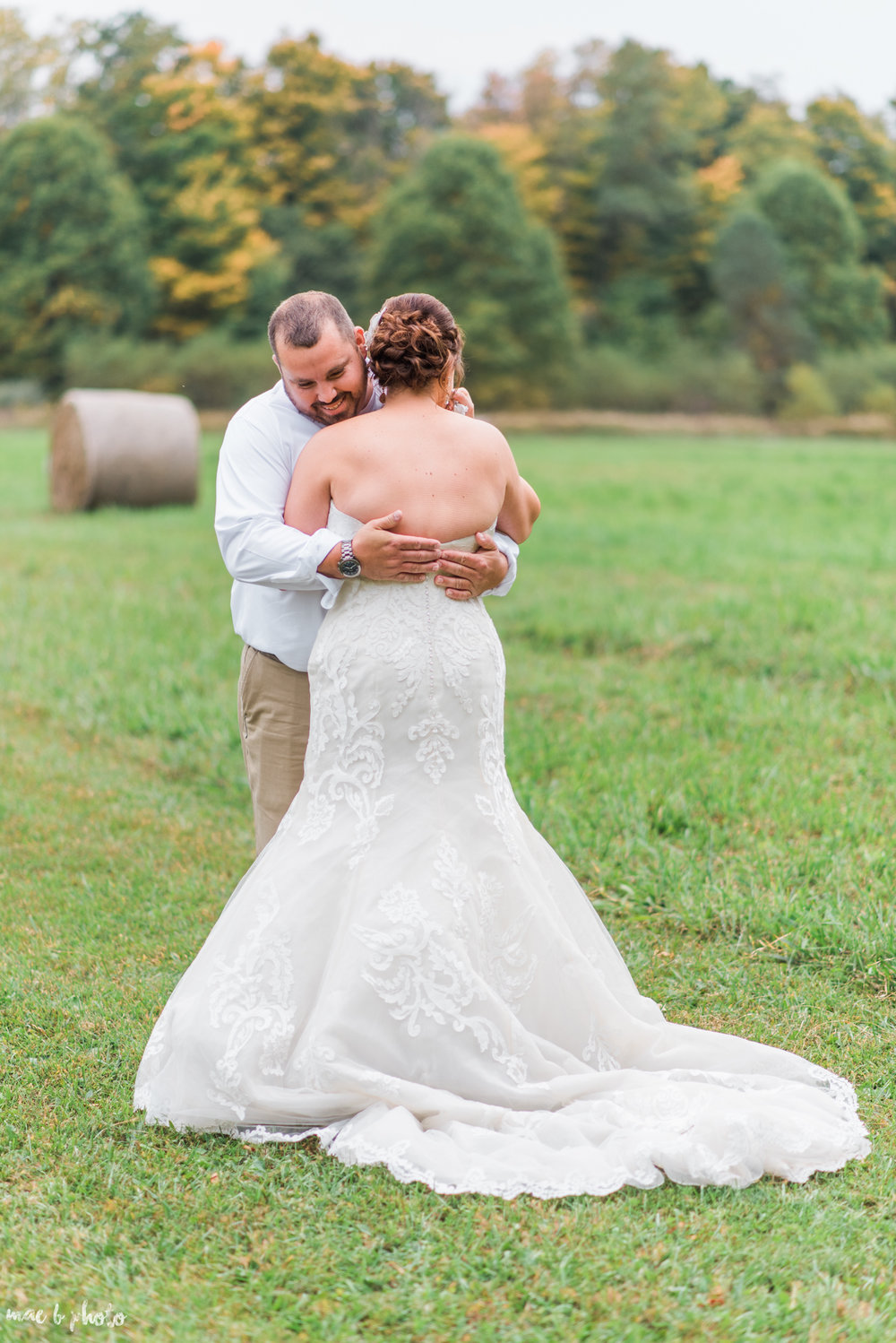 Sarah & Dustin's Rustic Chic Barn Wedding at Hartford Hill Winery in Hartford, Ohio by Mae B Photo-65.jpg