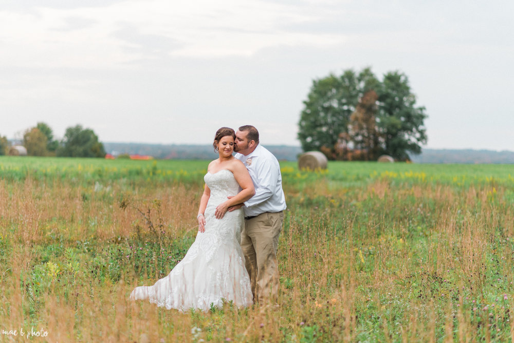Sarah & Dustin's Rustic Chic Barn Wedding at Hartford Hill Winery in Hartford, Ohio by Mae B Photo-73.jpg