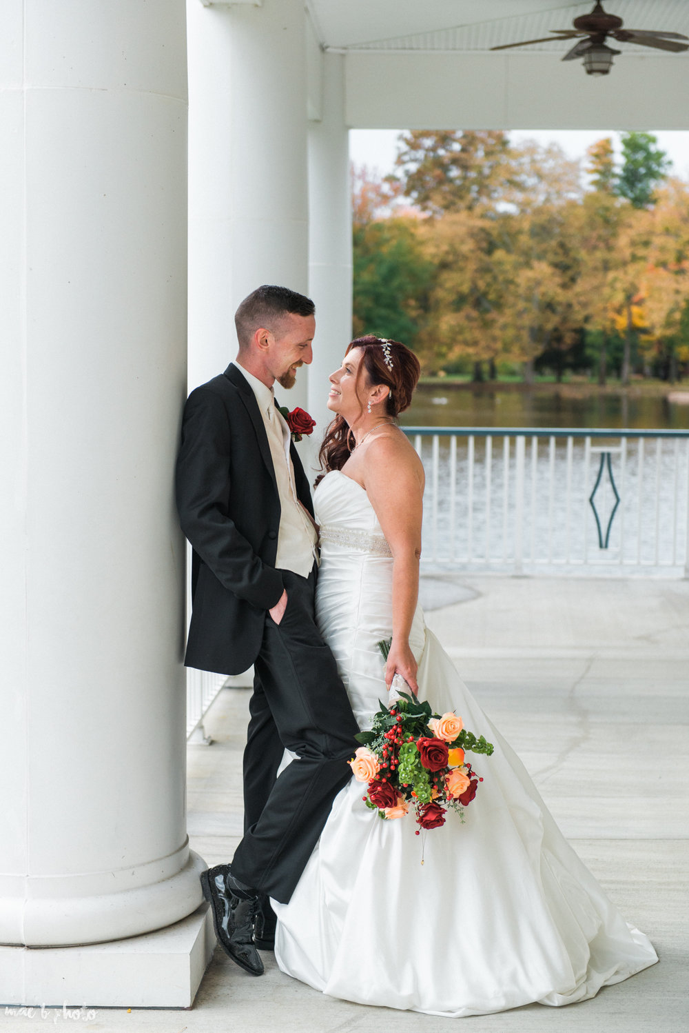 tracey and aaron's personal fall wedding at tiffany's banquet center in brookfield ohio-65.jpg