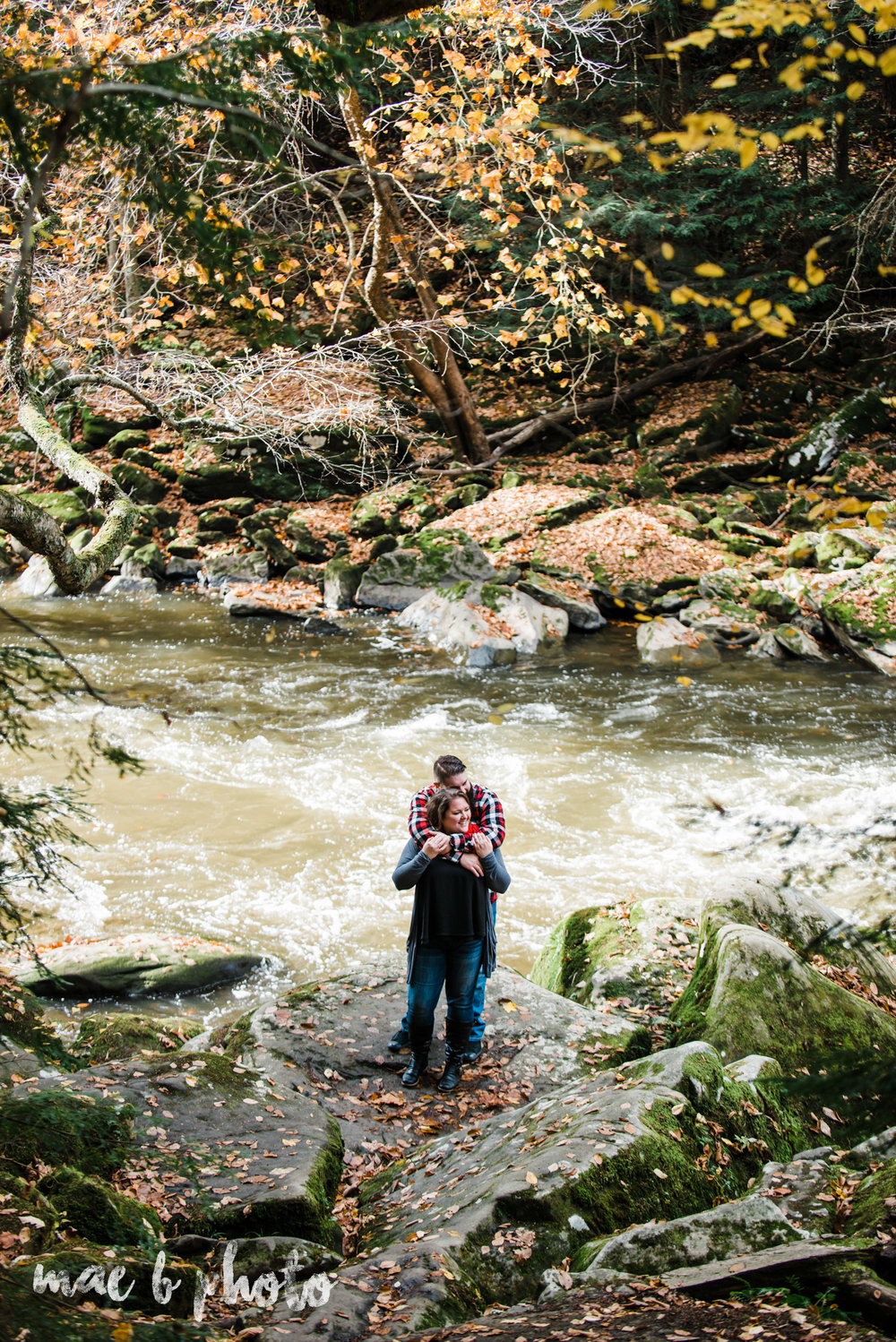 fall engagement session at mcconnells mills state park in enon valley pa photographed by cleveland wedding photographer mae b photo-1.jpg