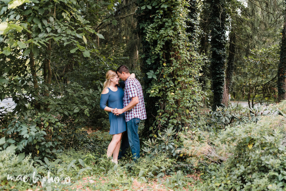 becca and rich's woodsy summer engagement session at ford nature center in mill creek park in youngstown ohio photographed by cleveland wedding photographer mae b photo-23.jpg
