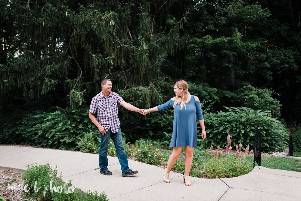 becca and rich's woodsy summer engagement session at ford nature center in mill creek park in youngstown ohio photographed by cleveland wedding photographer mae b photo-30.jpg