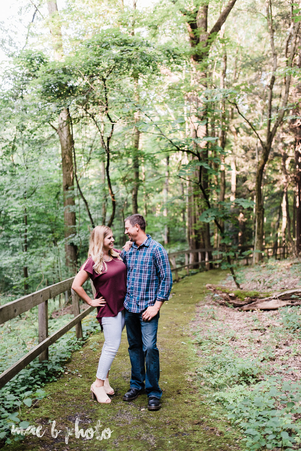 becca and rich's woodsy summer engagement session at ford nature center in mill creek park in youngstown ohio photographed by cleveland wedding photographer mae b photo-8.jpg