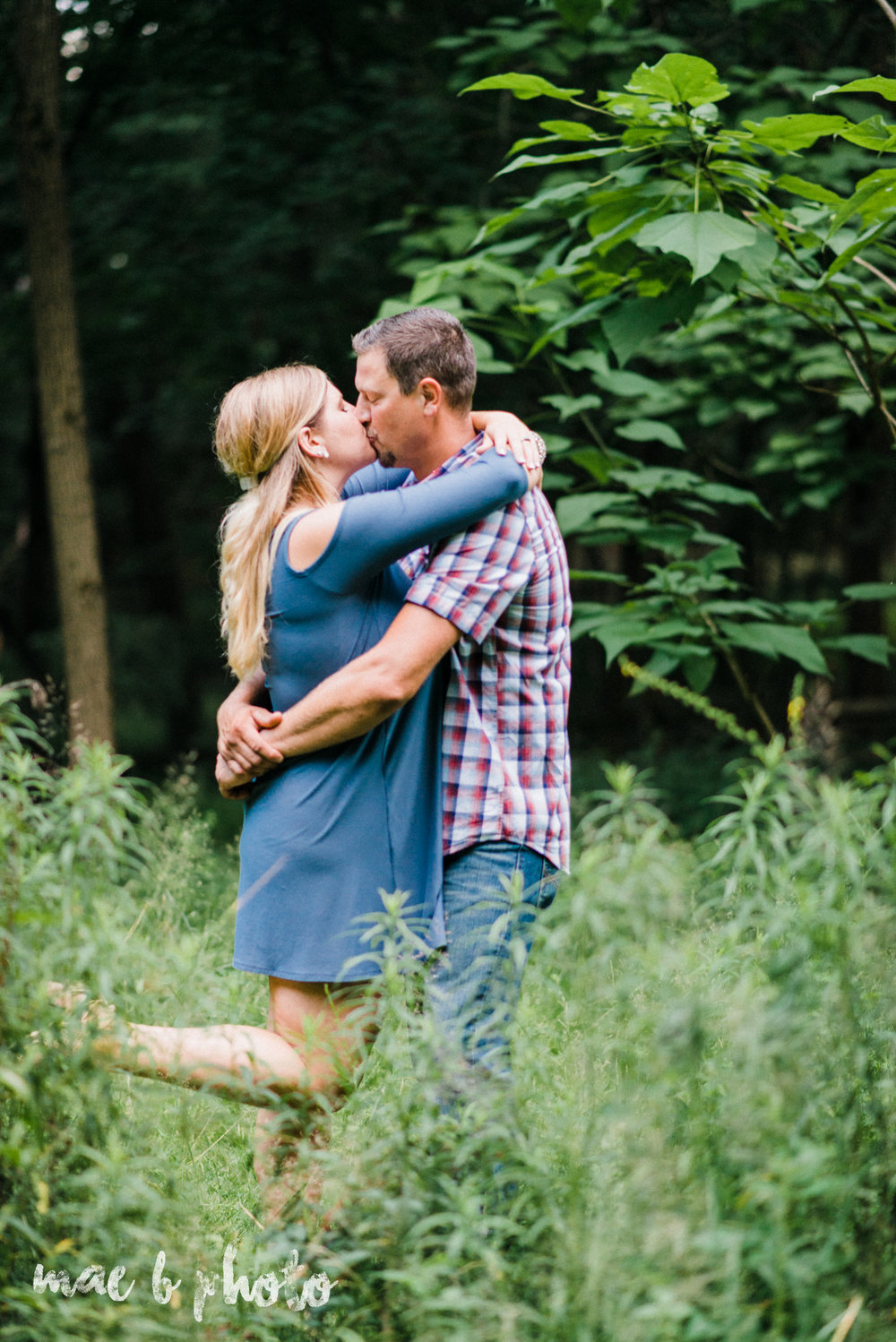 becca and rich's woodsy summer engagement session at ford nature center in mill creek park in youngstown ohio photographed by cleveland wedding photographer mae b photo-47.jpg