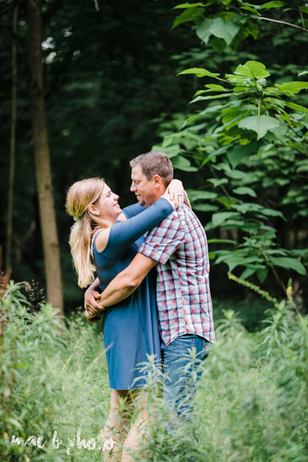 becca and rich's woodsy summer engagement session at ford nature center in mill creek park in youngstown ohio photographed by cleveland wedding photographer mae b photo-45.jpg