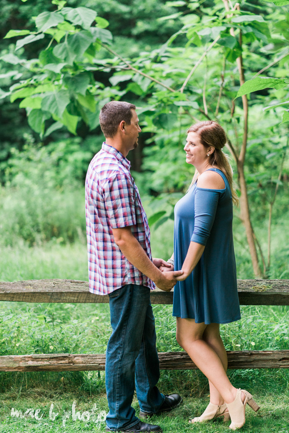 becca and rich's woodsy summer engagement session at ford nature center in mill creek park in youngstown ohio photographed by cleveland wedding photographer mae b photo-40.jpg