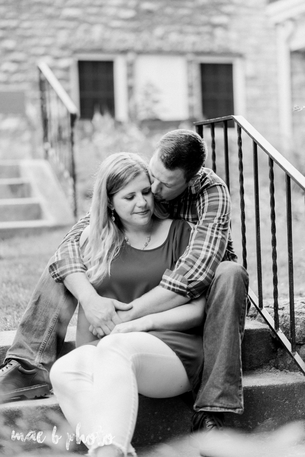 becca and rich's woodsy summer engagement session at ford nature center in mill creek park in youngstown ohio photographed by cleveland wedding photographer mae b photo-12.jpg