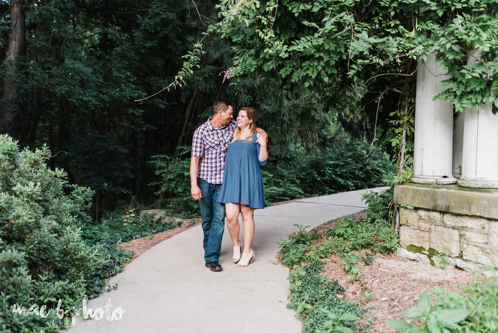 becca and rich's woodsy summer engagement session at ford nature center in mill creek park in youngstown ohio photographed by cleveland wedding photographer mae b photo-25.jpg
