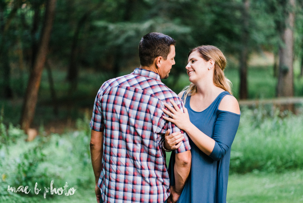 becca and rich's woodsy summer engagement session at ford nature center in mill creek park in youngstown ohio photographed by cleveland wedding photographer mae b photo-34.jpg