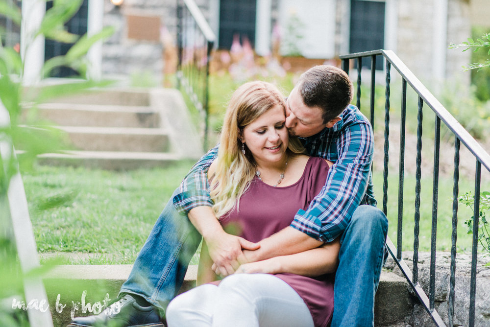 becca and rich's woodsy summer engagement session at ford nature center in mill creek park in youngstown ohio photographed by cleveland wedding photographer mae b photo-13.jpg