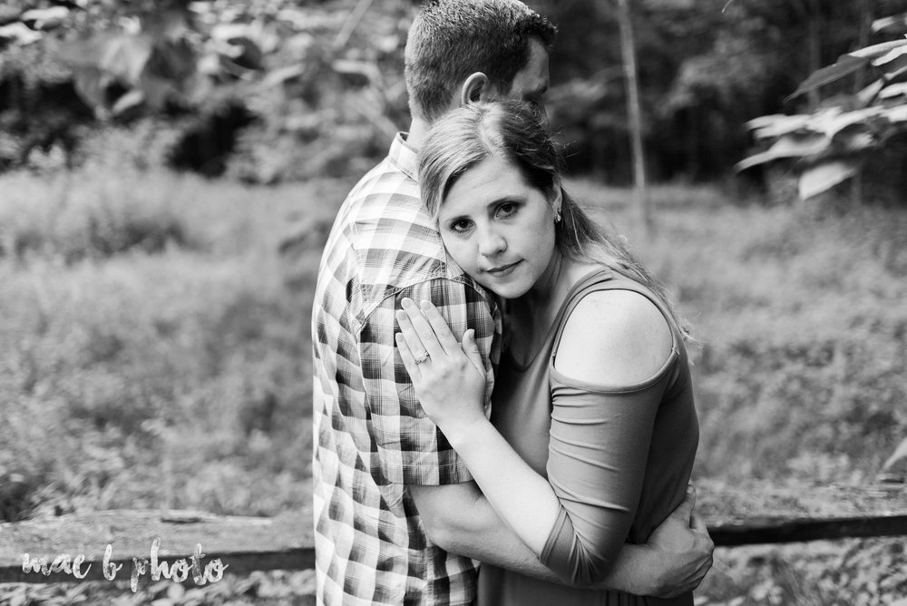 becca and rich's woodsy summer engagement session at ford nature center in mill creek park in youngstown ohio photographed by cleveland wedding photographer mae b photo-43.jpg