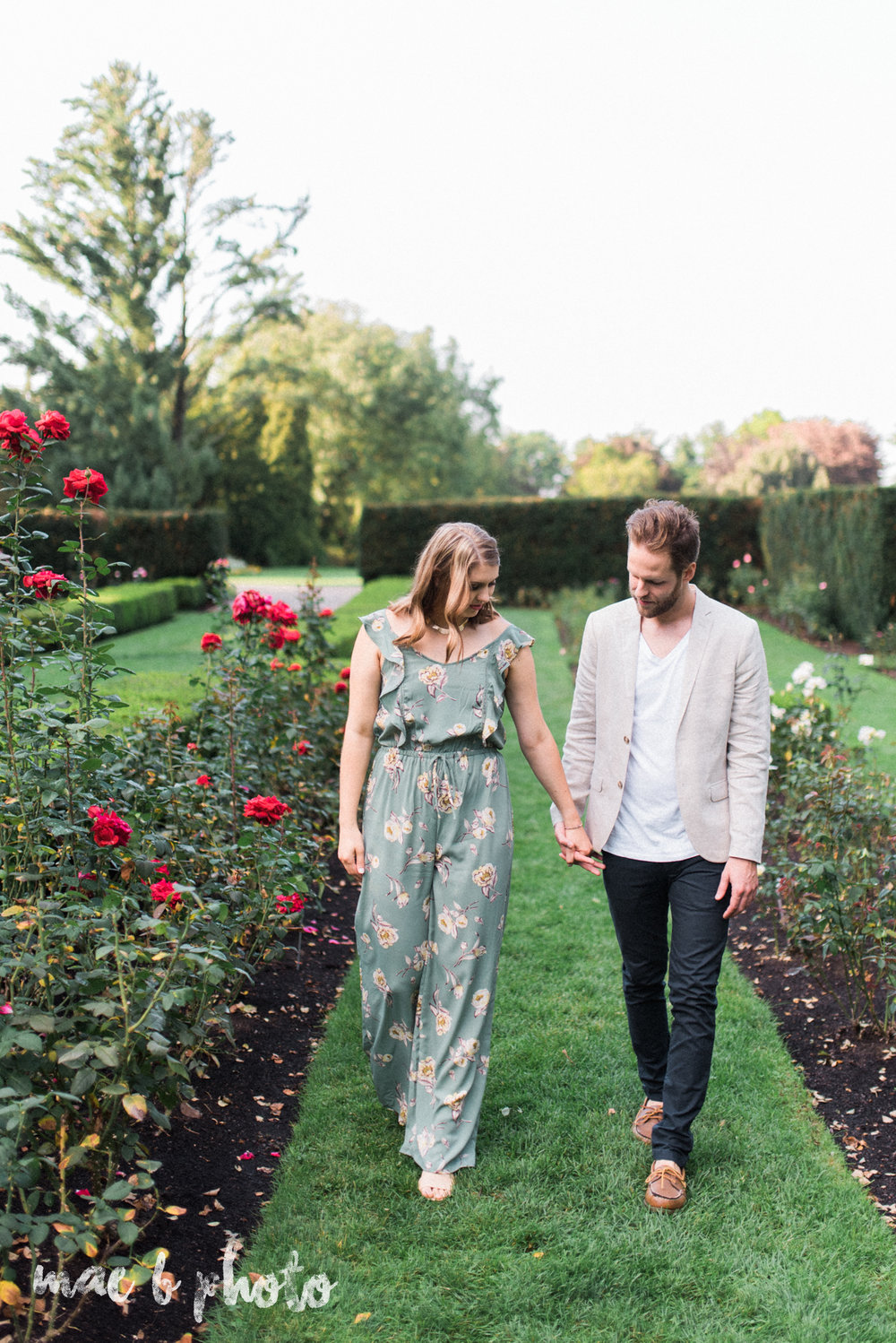 lauren and steve's summer engagement session at the rose gardens and lanterman's mill in mill creek park in youngstown ohio photographed by youngstown wedding photographer mae b photo-11.jpg