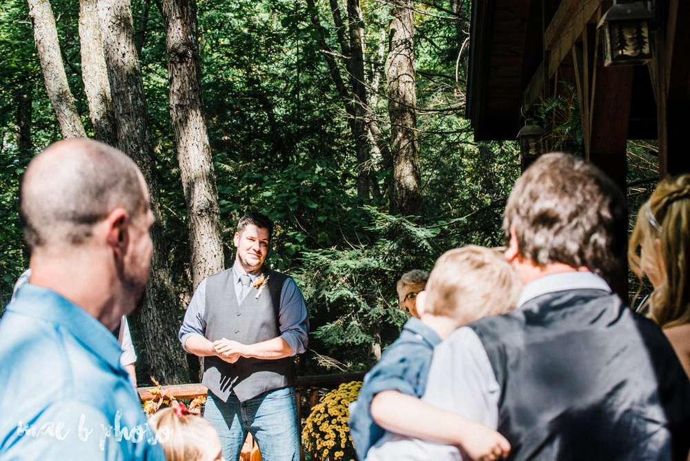 bobbi and pat's intimate fall cabin elopement in hocking hills old man's cave and rock house in logan ohio photographed by youngstown wedding photographer mae b photo-44.jpg