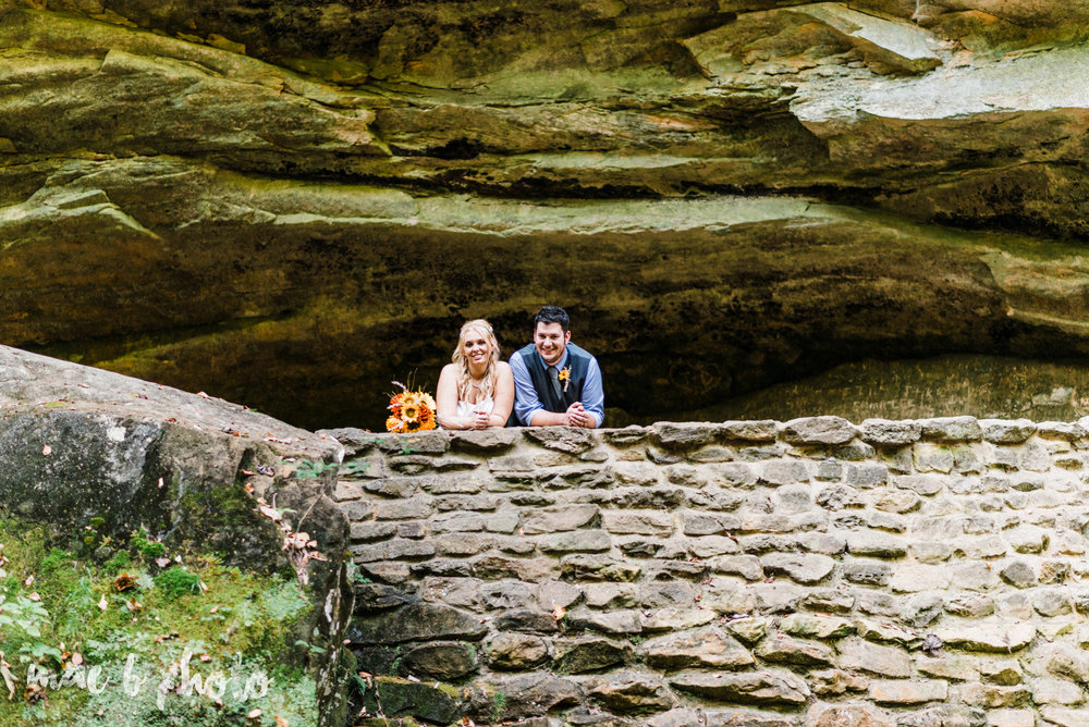 bobbi and pat's intimate fall cabin elopement in hocking hills old man's cave and rock house in logan ohio photographed by youngstown wedding photographer mae b photo-77.jpg