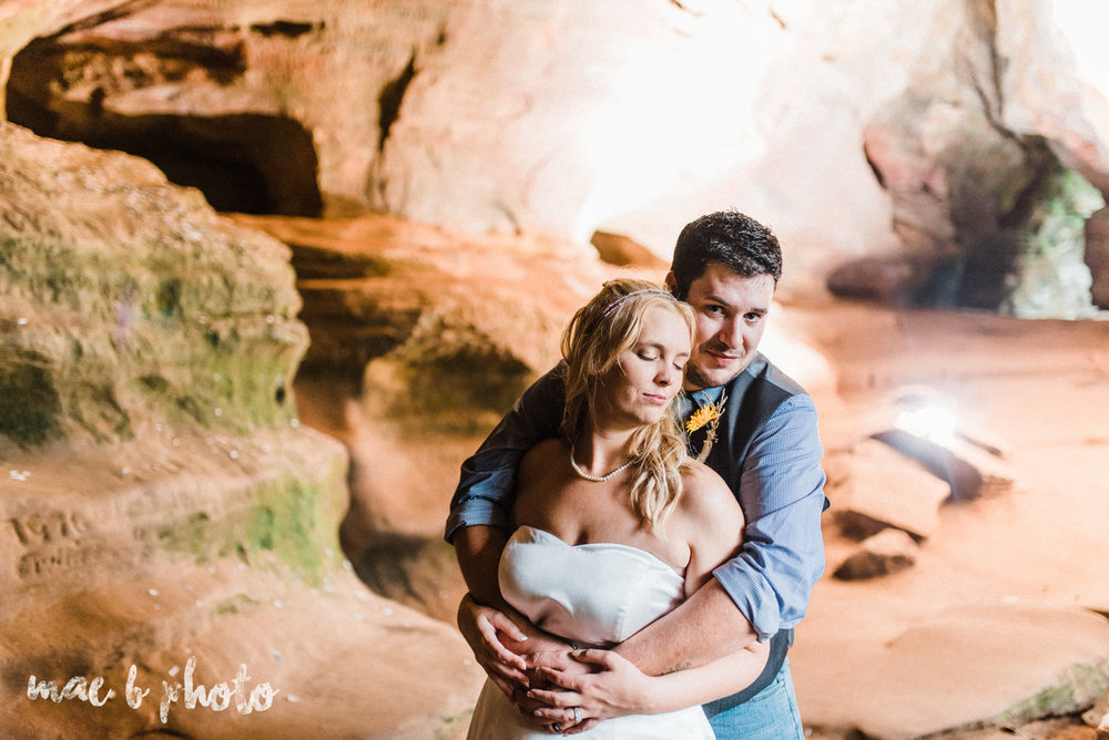 bobbi and pat's intimate fall cabin elopement in hocking hills old man's cave and rock house in logan ohio photographed by youngstown wedding photographer mae b photo-87.jpg