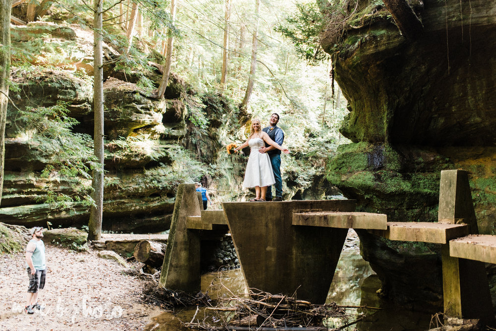bobbi and pat's intimate fall cabin elopement in hocking hills old man's cave and rock house in logan ohio photographed by youngstown wedding photographer mae b photo-64.jpg