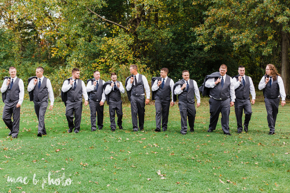 becca and rich's large, personalized fall wedding in orwell ohio and at the metroplex in girard ohio photographed by youngstown wedding photographer mae b photo-119.jpg