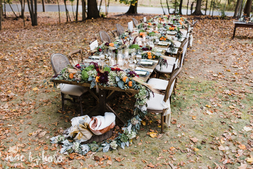 An Intimate Rustic Fall Dinner Under The Trees In Youngstown Ohio Mae B Photo