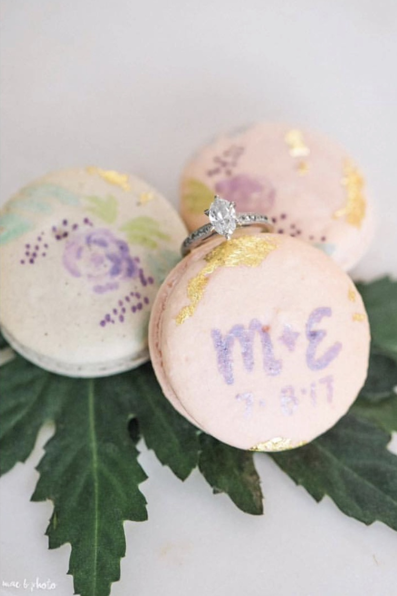 Custom macarons made by Bake Me Treats