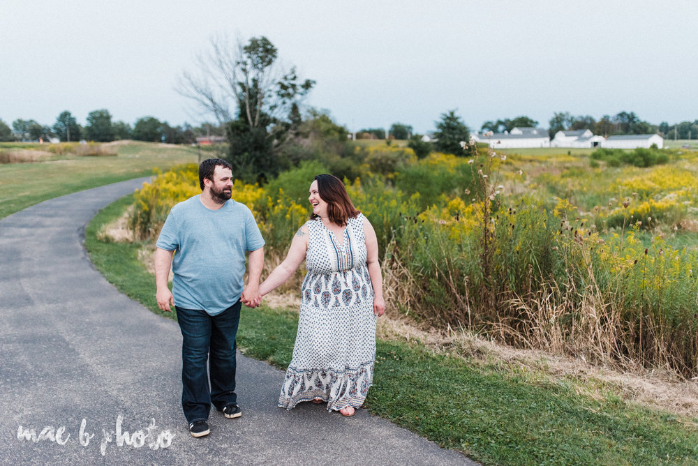 lauren and mike's fall family session and five year anniversary session at mill creek metroparks farm in canfield, ohio photographed by youngstown wedding photographer mae b photo-27.jpg