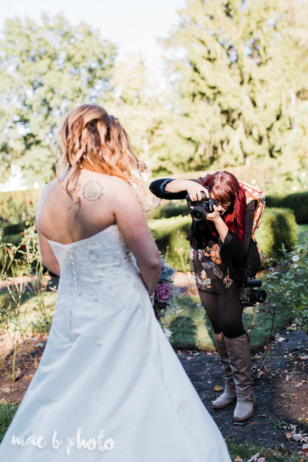 behind the scenes of sarah and randy's fun relaxed fall wedding at divieste's in warren ohio and the rose gardens in mill cree park in youngstown ohio photographed by youngstown wedding photographer mae b photo-2.jpg