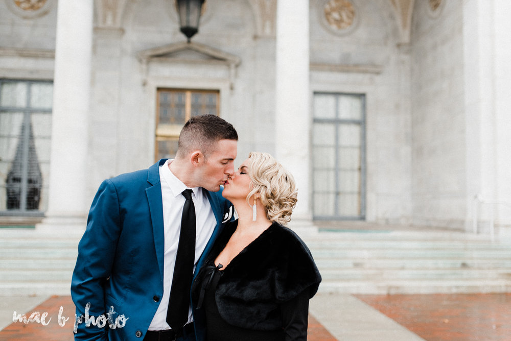paige and cale's personalized winter glam engagement session at the butler institute of american art and downtown youngstown in youngstown ohio photographed by youngstown wedding photographer mae b photo-2.jpg