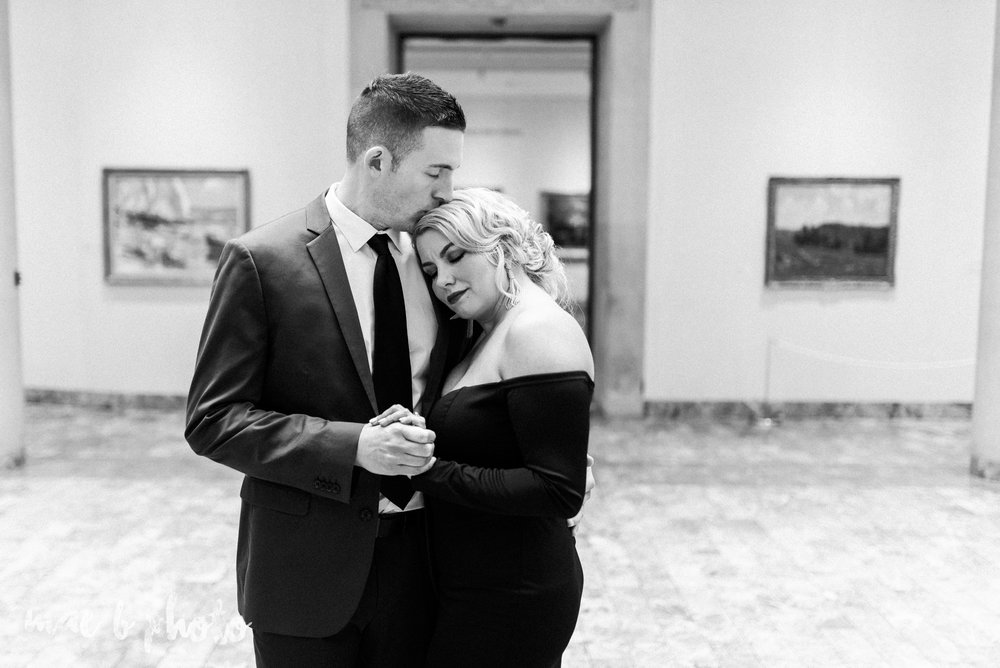 paige and cale's personalized winter glam engagement session at the butler institute of american art and downtown youngstown in youngstown ohio photographed by youngstown wedding photographer mae b photo-18.jpg
