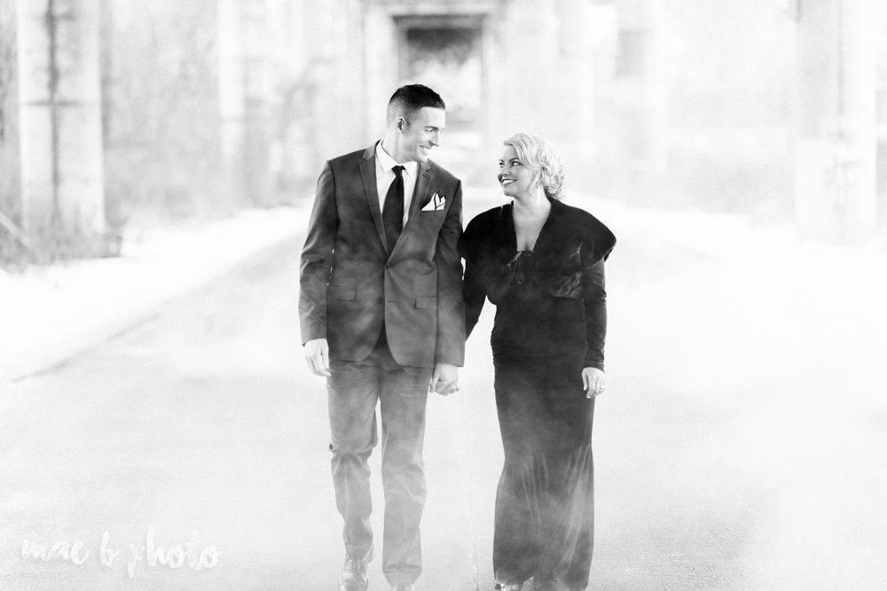 paige and cale's personalized winter glam engagement session at the butler institute of american art and downtown youngstown in youngstown ohio photographed by youngstown wedding photographer mae b photo-35.jpg
