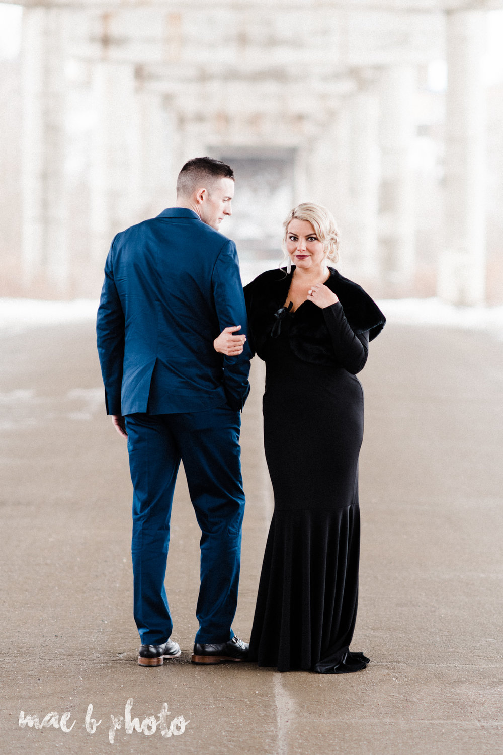 paige and cale's personalized winter glam engagement session at the butler institute of american art and downtown youngstown in youngstown ohio photographed by youngstown wedding photographer mae b photo-28.jpg