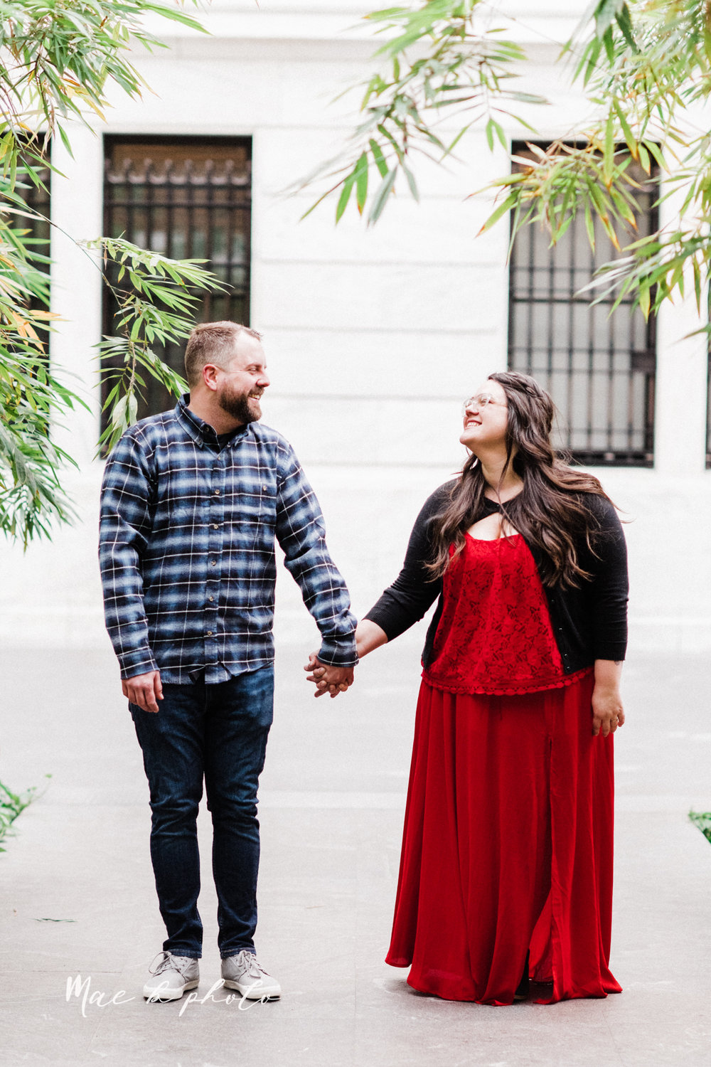 brad and kaitlin's winter museum engagement session at the cleveland museum of art and the cleveland natural history museum and the botanical gardens in cleveland ohio photographed by youngstown wedding photographer mae b photo-26.jpg