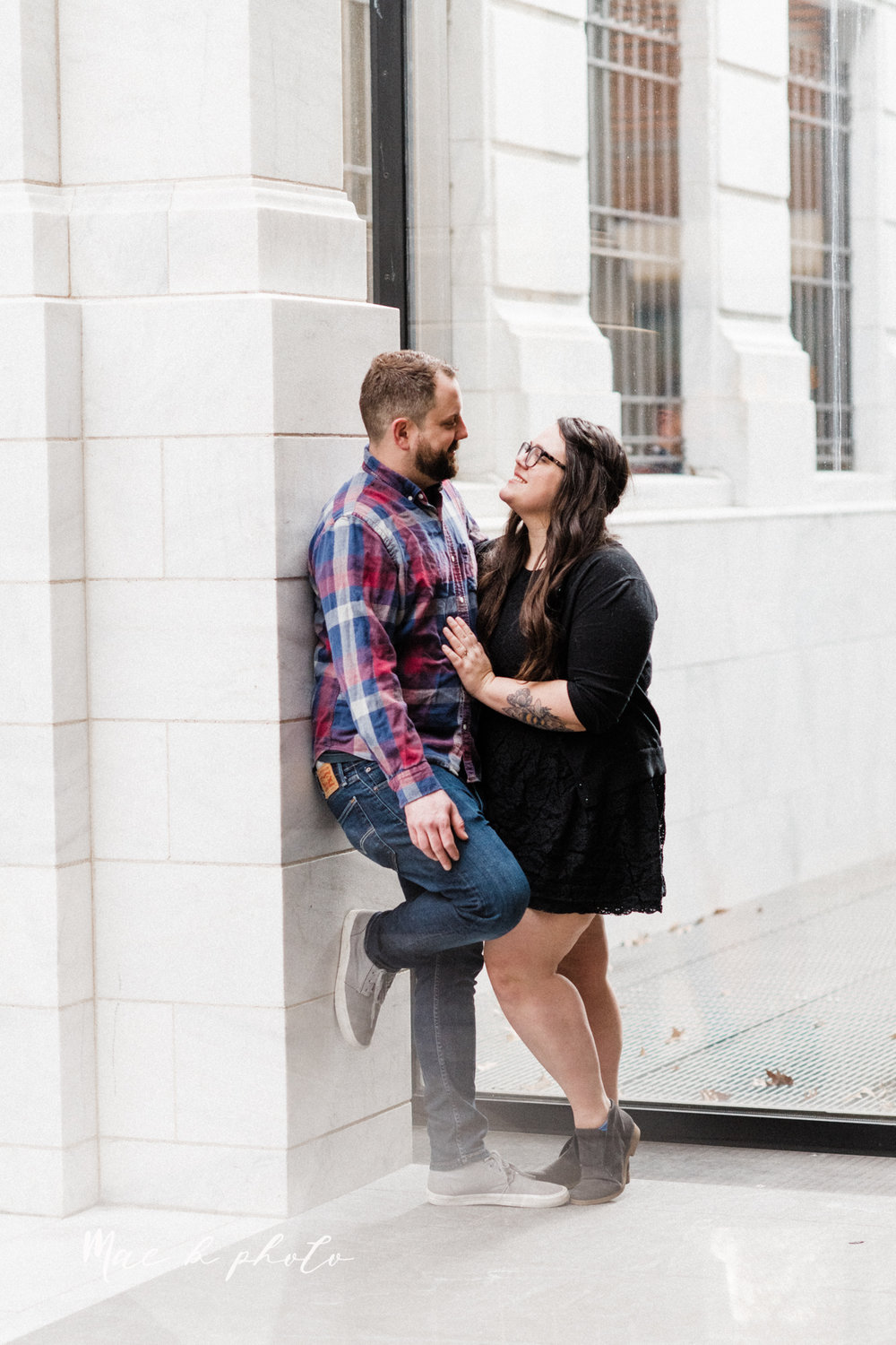 brad and kaitlin's winter museum engagement session at the cleveland museum of art and the cleveland natural history museum and the botanical gardens in cleveland ohio photographed by youngstown wedding photographer mae b photo-28.jpg