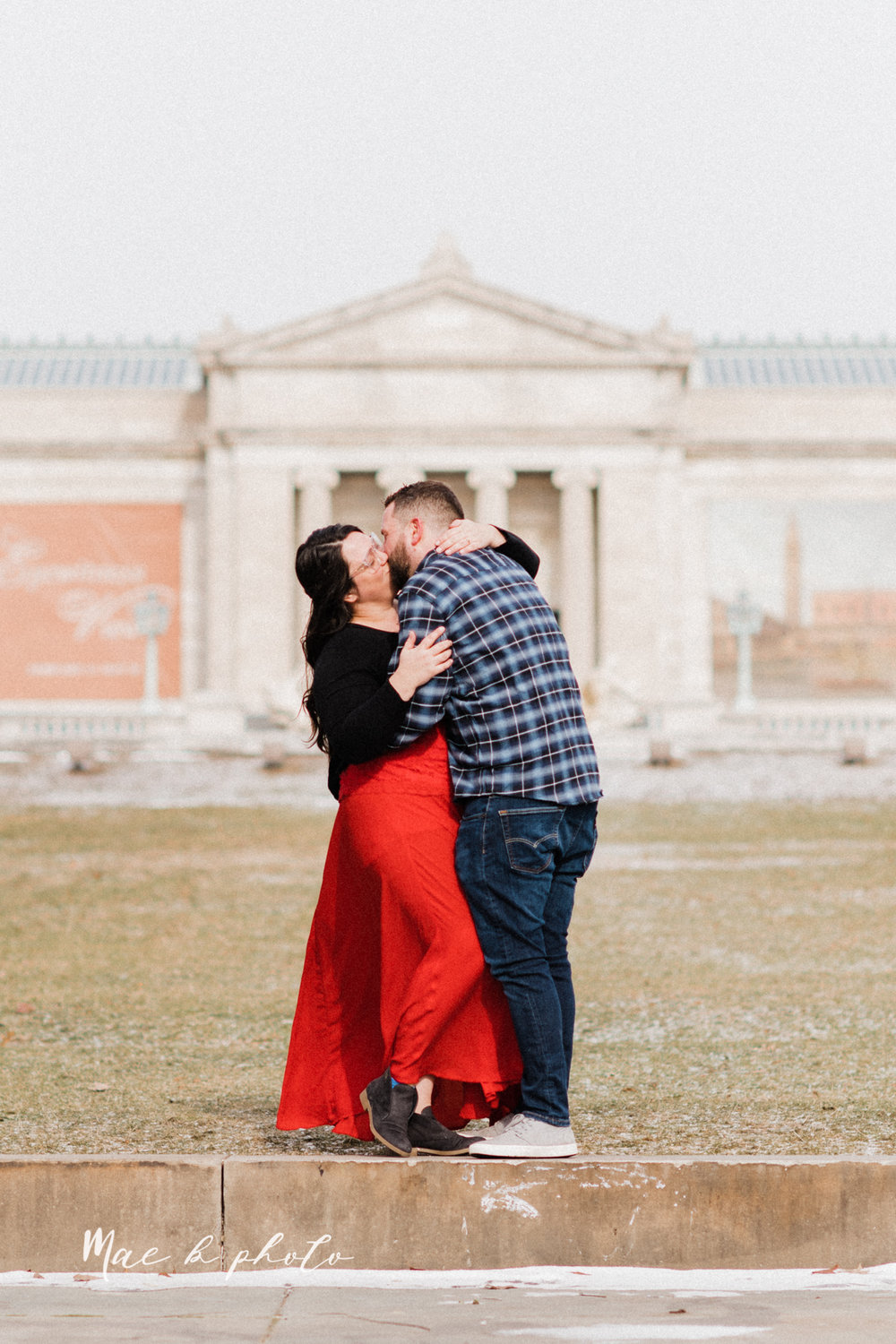 brad and kaitlin's winter museum engagement session at the cleveland museum of art and the cleveland natural history museum and the botanical gardens in cleveland ohio photographed by youngstown wedding photographer mae b photo-2.jpg