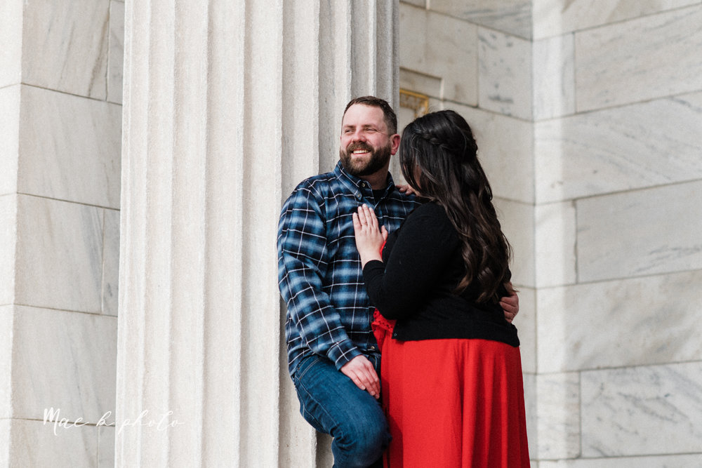 brad and kaitlin's winter museum engagement session at the cleveland museum of art and the cleveland natural history museum and the botanical gardens in cleveland ohio photographed by youngstown wedding photographer mae b photo-18.jpg