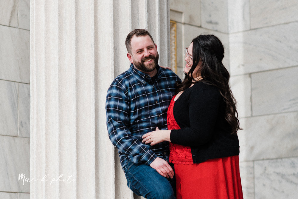 brad and kaitlin's winter museum engagement session at the cleveland museum of art and the cleveland natural history museum and the botanical gardens in cleveland ohio photographed by youngstown wedding photographer mae b photo-17.jpg