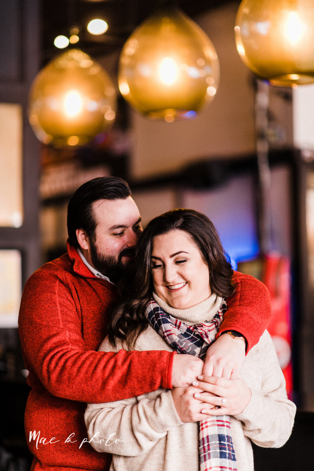 casey and matthew's personal winter cleveland engagement session at the clevelander and east fourth street and edgewater park in cleveland ohio photographed by youngstown wedding photographer mae b photo-13.jpg