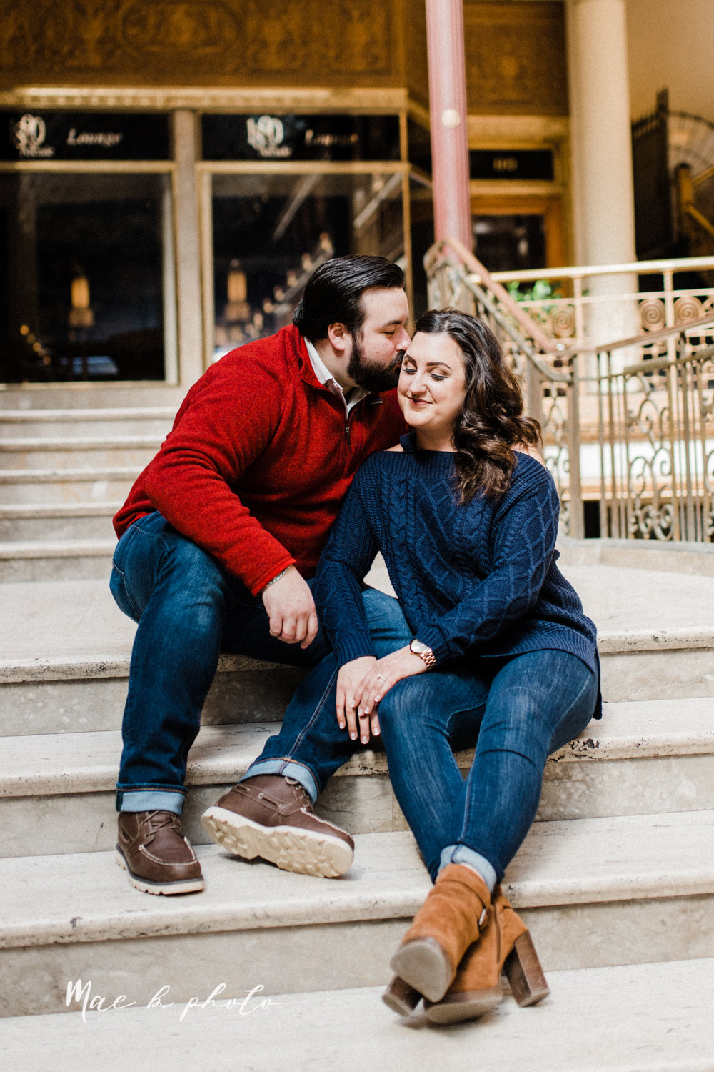 casey and matthew's personal winter cleveland engagement session at the clevelander and east fourth street and edgewater park in cleveland ohio photographed by youngstown wedding photographer mae b photo-27.jpg