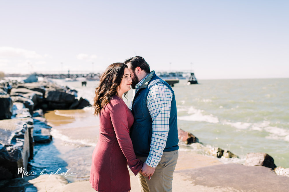 casey and matthew's personal winter cleveland engagement session at the clevelander and east fourth street and edgewater park in cleveland ohio photographed by youngstown wedding photographer mae b photo-38.jpg