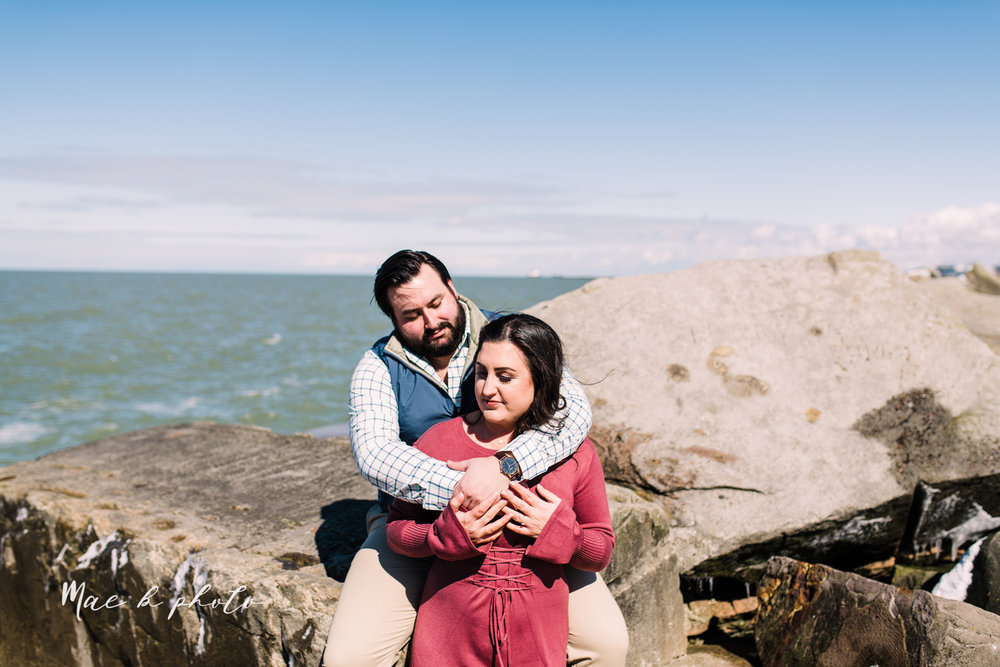 casey and matthew's personal winter cleveland engagement session at the clevelander and east fourth street and edgewater park in cleveland ohio photographed by youngstown wedding photographer mae b photo-35.jpg