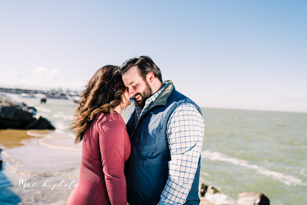 casey and matthew's personal winter cleveland engagement session at the clevelander and east fourth street and edgewater park in cleveland ohio photographed by youngstown wedding photographer mae b photo-39.jpg