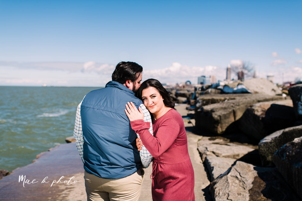 casey and matthew's personal winter cleveland engagement session at the clevelander and east fourth street and edgewater park in cleveland ohio photographed by youngstown wedding photographer mae b photo-41.jpg