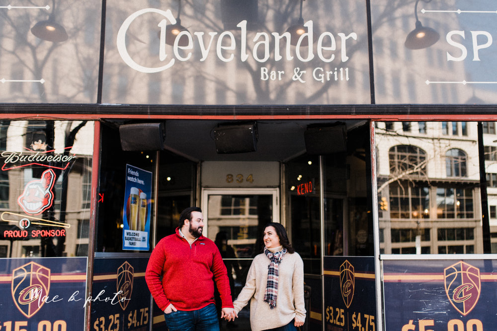 casey and matthew's personal winter cleveland engagement session at the clevelander and east fourth street and edgewater park in cleveland ohio photographed by youngstown wedding photographer mae b photo-3.jpg