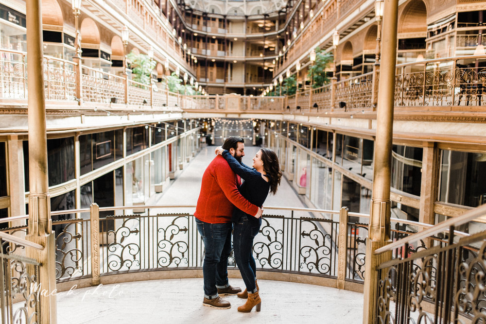 casey and matthew's personal winter cleveland engagement session at the clevelander and east fourth street and edgewater park in cleveland ohio photographed by youngstown wedding photographer mae b photo-29.jpg