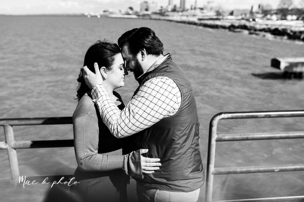 casey and matthew's personal winter cleveland engagement session at the clevelander and east fourth street and edgewater park in cleveland ohio photographed by youngstown wedding photographer mae b photo-46.jpg