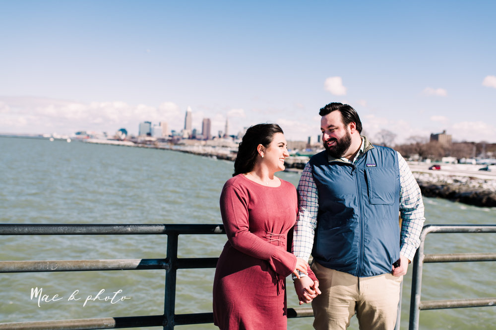 casey and matthew's personal winter cleveland engagement session at the clevelander and east fourth street and edgewater park in cleveland ohio photographed by youngstown wedding photographer mae b photo-44.jpg