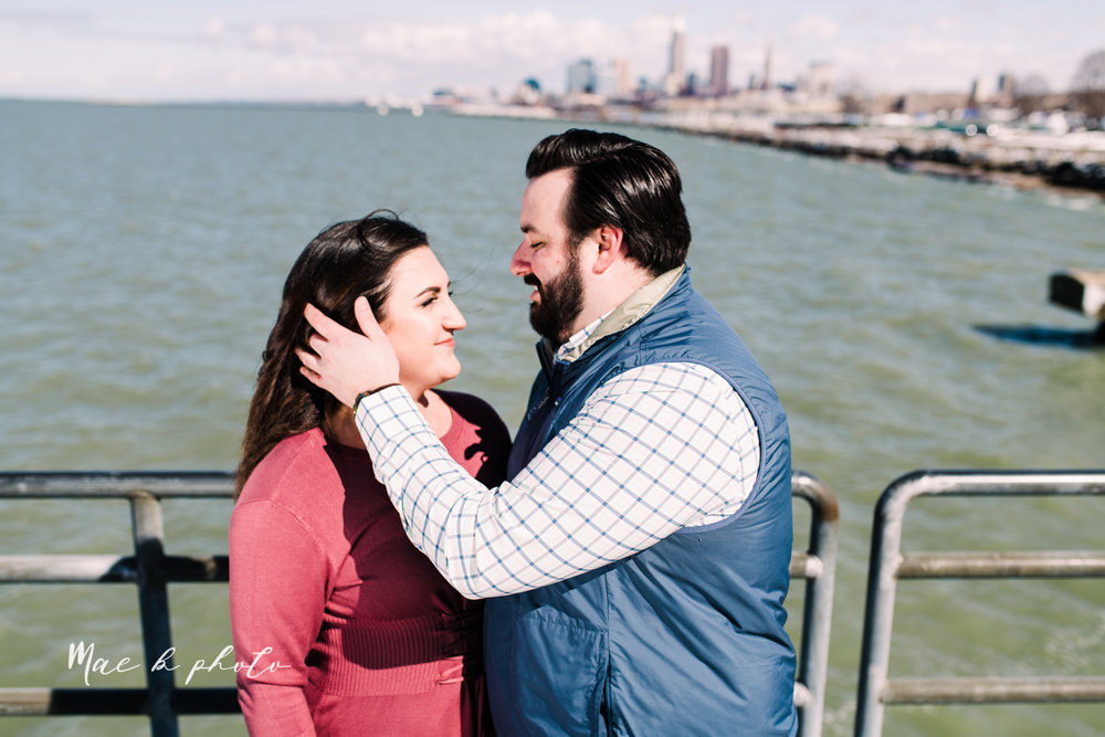 casey and matthew's personal winter cleveland engagement session at the clevelander and east fourth street and edgewater park in cleveland ohio photographed by youngstown wedding photographer mae b photo-45.jpg