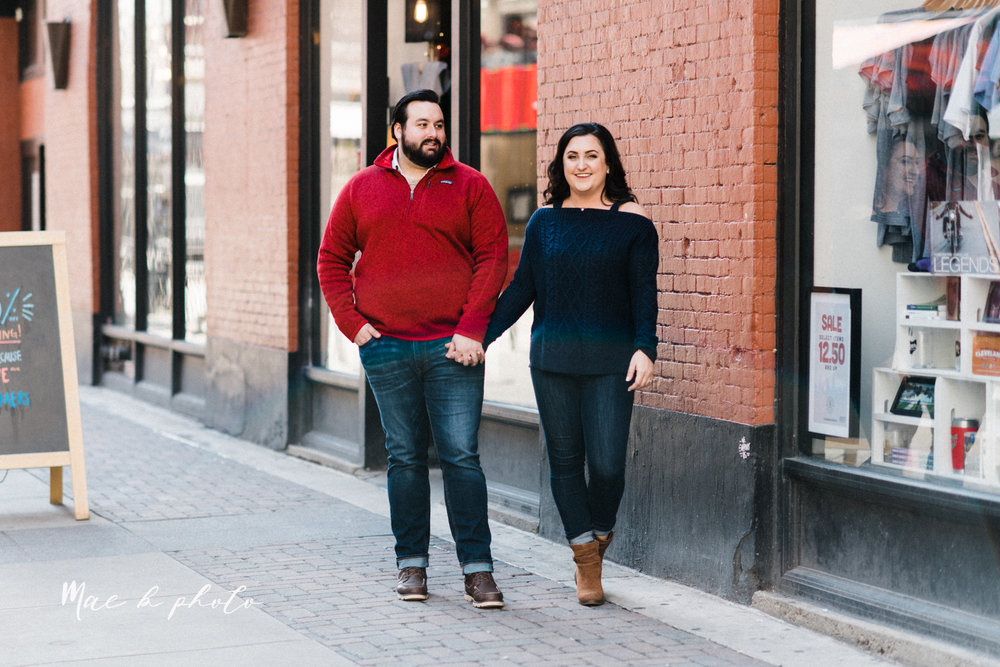 casey and matthew's personal winter cleveland engagement session at the clevelander and east fourth street and edgewater park in cleveland ohio photographed by youngstown wedding photographer mae b photo-18.jpg