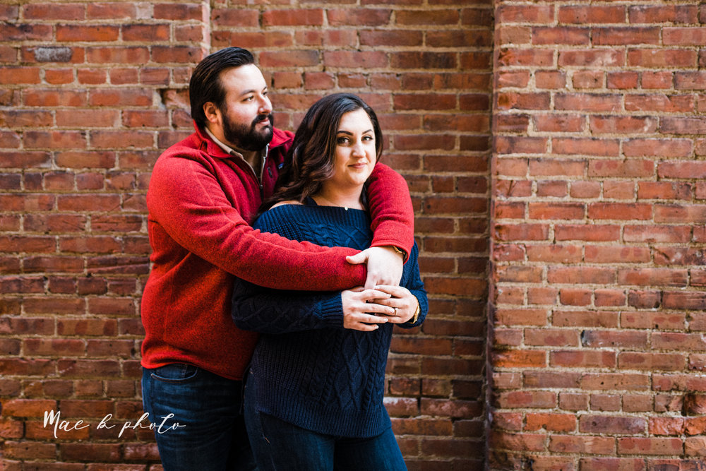 casey and matthew's personal winter cleveland engagement session at the clevelander and east fourth street and edgewater park in cleveland ohio photographed by youngstown wedding photographer mae b photo-22.jpg