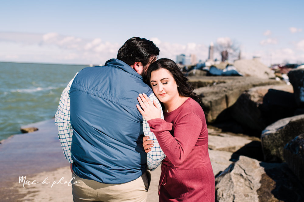 casey and matthew's personal winter cleveland engagement session at the clevelander and east fourth street and edgewater park in cleveland ohio photographed by youngstown wedding photographer mae b photo-42.jpg
