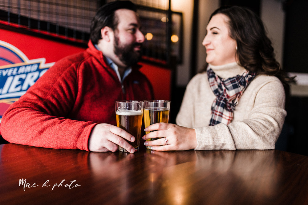casey and matthew's personal winter cleveland engagement session at the clevelander and east fourth street and edgewater park in cleveland ohio photographed by youngstown wedding photographer mae b photo-6.jpg