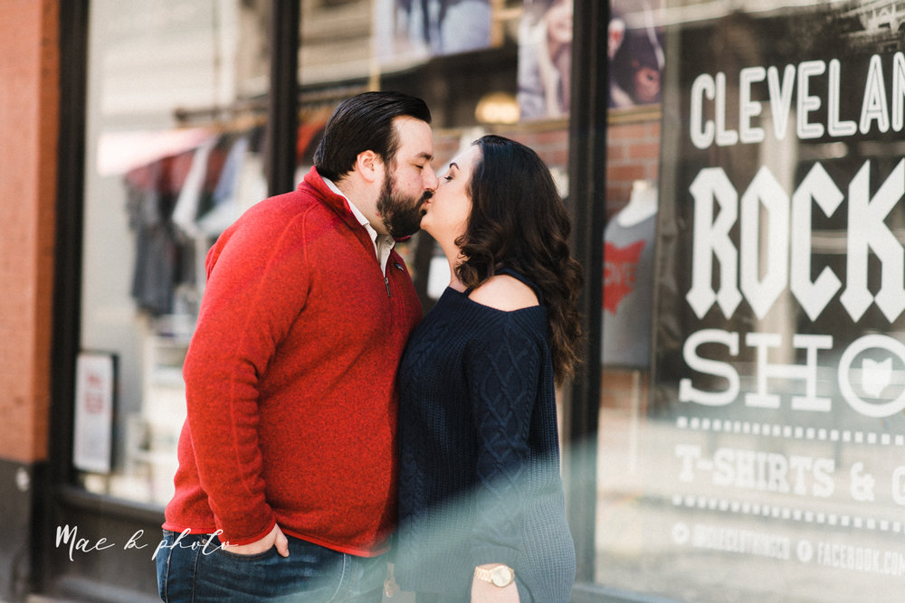 casey and matthew's personal winter cleveland engagement session at the clevelander and east fourth street and edgewater park in cleveland ohio photographed by youngstown wedding photographer mae b photo-21.jpg